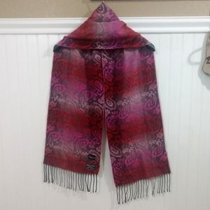 Cajon: Italian Made Super Soft Fringed Scarf